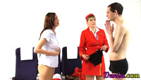 Tranny as air hostess